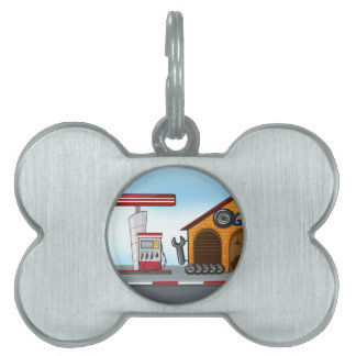 Gas station and garage pet tag