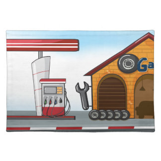 Gas station and garage placemat