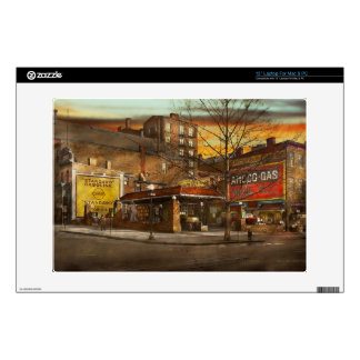 """Gas Station - At the end of a day 1925 13"""" Laptop Skin"""