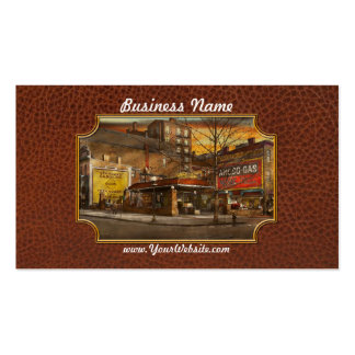 Gas Station - At the end of a day 1925 Business Card