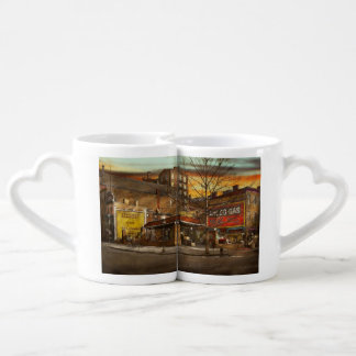 Gas Station - At the end of a day 1925 Coffee Mug Set
