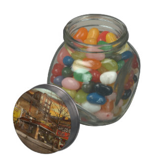 Gas Station - At the end of a day 1925 Glass Candy Jar
