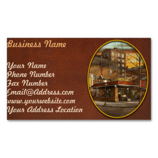 Gas Station - At the end of a day 1925 Magnetic Business Card