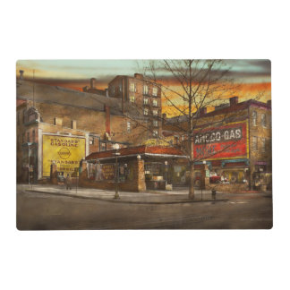 Gas Station - At the end of a day 1925 Placemat