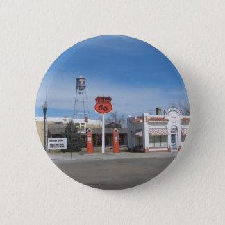 Gas Station Bassett, Nebraska, USA Button
