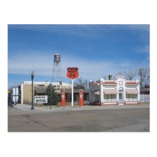 Gas Station Bassett, Nebraska, USA Postcard