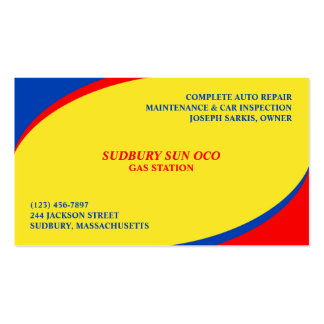 44 Fuel Station Business Cards and Fuel Station Business