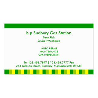 Gas Station Business Cards & Templates