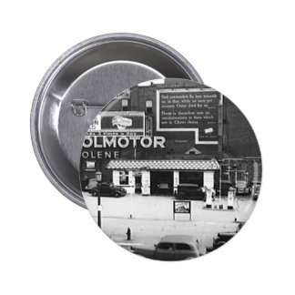 Gas Station Cleveland Ohio Vintage Photo Buttons