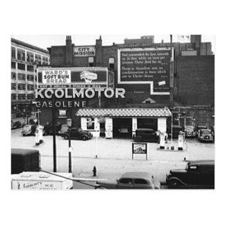 Gas Station Cleveland Ohio Vintage Photo Postcard