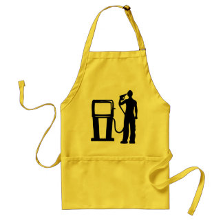 Gas Station Gun In The Head Adult Apron