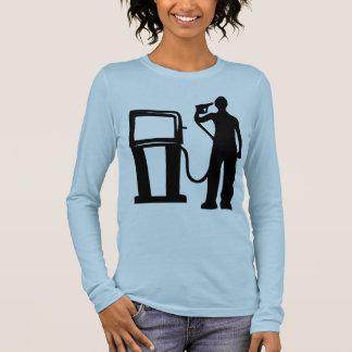 Gas Station Gun In The Head Long Sleeve T-Shirt