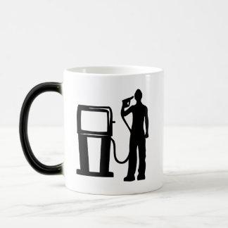 Gas Station Gun In The Head Magic Mug