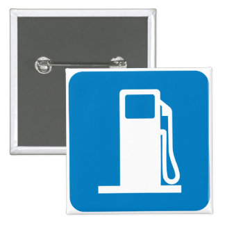 Gas Station Highway Sign 2 Inch Square Button