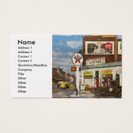 Gas Station - Indian Trails gas station 1940 Business Card