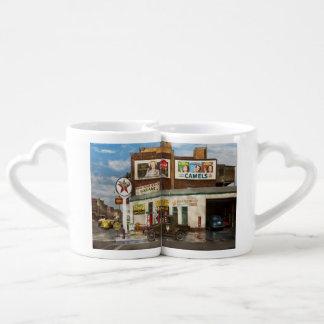 Gas Station - Indian Trails gas station 1940 Coffee Mug Set