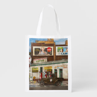 Gas Station - Indian Trails gas station 1940 Grocery Bag