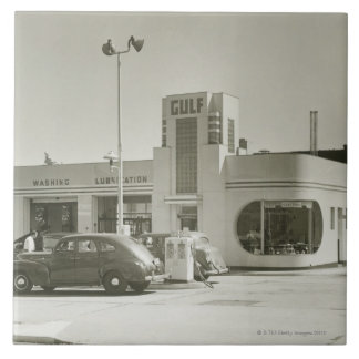 Gas Station Large Square Tile