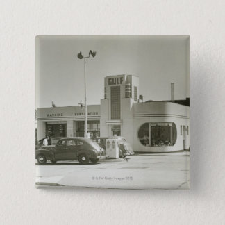 Gas Station Pinback Button