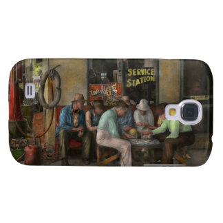 Gas Station - Playing checkers together 1939 Galaxy S4 Case