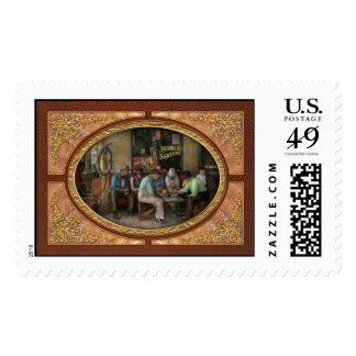 Gas Station - Playing checkers together 1939 Postage Stamps
