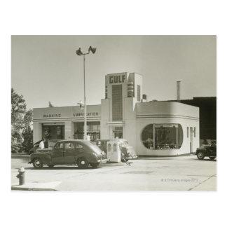Gas Station Postcard