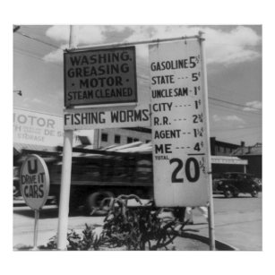 Gas Station Sign Posters & Photo Prints | Zazzle