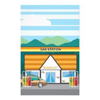 Gas Station Stationery