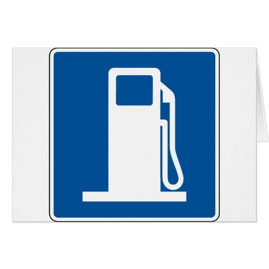 Gas Station Street Sign Card