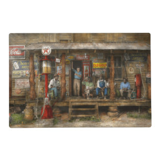 Gas Station - Sunday afternoon - 1939 Placemat