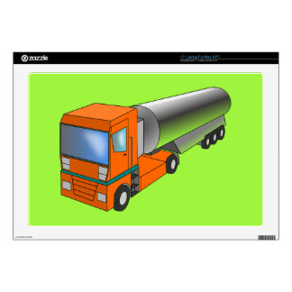 "Gas Tanker Truck Heavy Transporter for Kids 17"" Laptop Decal"