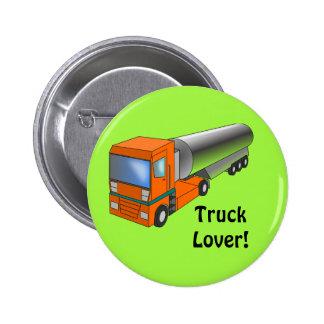 Gas Tanker Truck Heavy Transporter for Kids Button