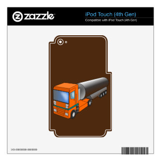 Gas Tanker Truck Heavy Transporter for Kids iPod Touch 4G Skin
