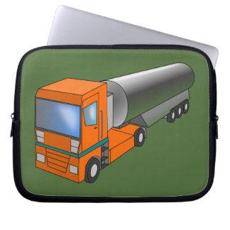 Gas Tanker Truck Heavy Transporter for Kids Laptop Computer Sleeves