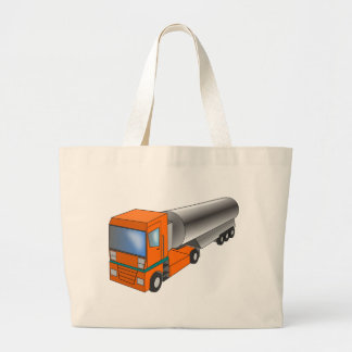 Gas Tanker Truck Heavy Transporter for Kids Large Tote Bag