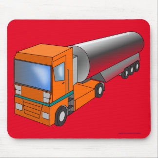 Gas Tanker Truck Heavy Transporter for Kids Mouse Pad