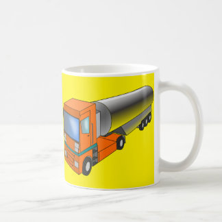 Gas Tanker Truck Heavy Transporter for Kids Classic White Coffee Mug
