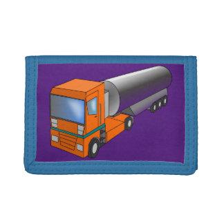 Gas Tanker Truck Heavy Transporter for Kids Tri-fold Wallet