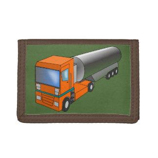 Gas Tanker Truck Heavy Transporter for Kids Tri-fold Wallets