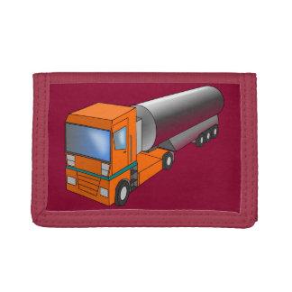 Gas Tanker Truck Heavy Transporter for Kids Trifold Wallets