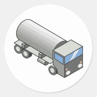 Gas truck.ai pegatina redonda