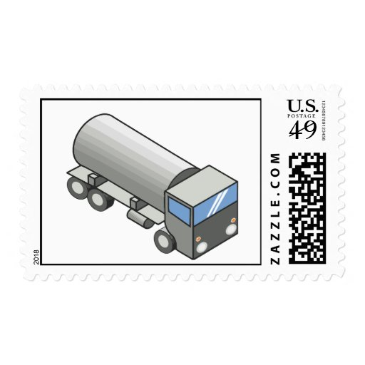 Gas truck.ai postage stamp