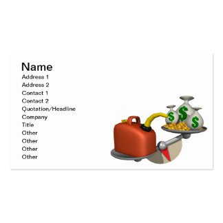Gas Vs Money Double-Sided Standard Business Cards (Pack Of 100)