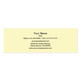 Gasa del limón tarjetas de visita