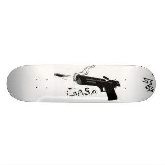 GAsa guns shooting gun white Custom Skate Board