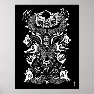 GASCH. Glyph T02 Poster