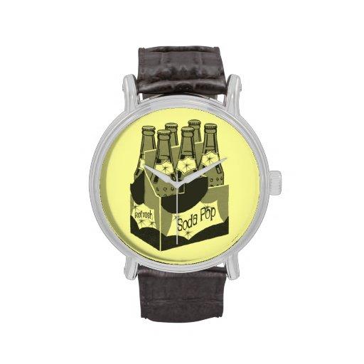Gaseosa retra relojes de pulsera