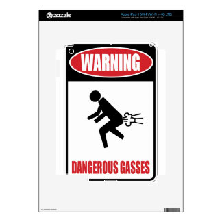 Gases peligrosos divertidos iPad 3 pegatina skin