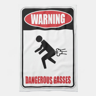 Gases peligrosos divertidos toalla de mano