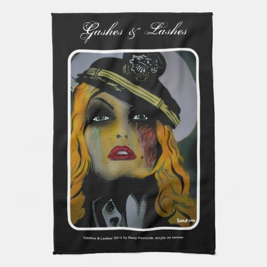 'Gashes & Lashes' American MoJo Kitchen Towel